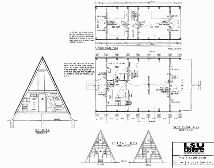Free small cabin plans for A frame log cabin plans