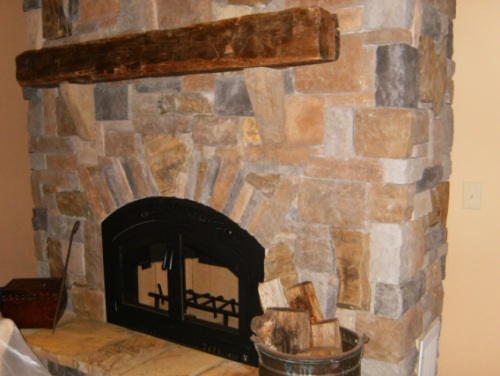 Stone Fireplace Framing - Fireplaces with stone