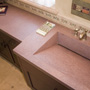 Log Cabin Home Design - Concrete Countertop