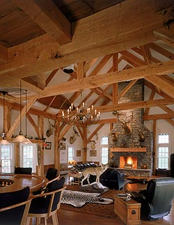SIPs in timber frame homes