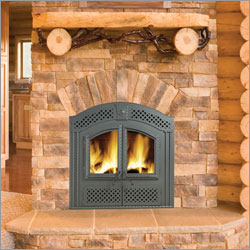 Wood Burning Stoves - cabin fireplace