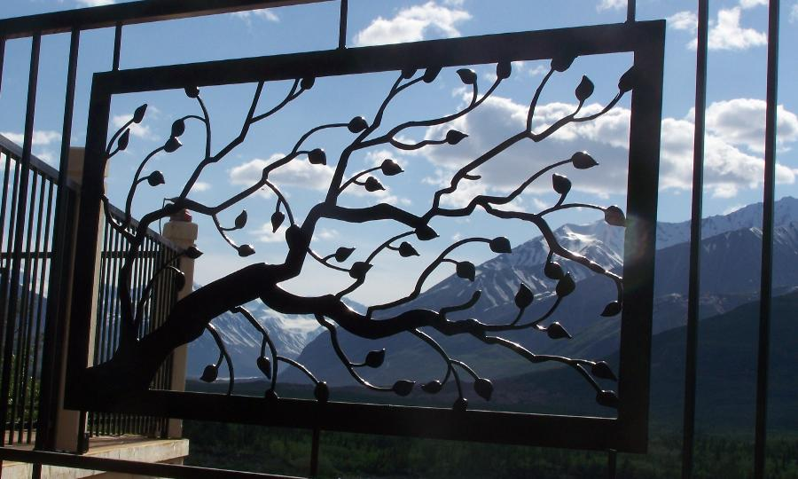 Birch branch panel from Iron By Chad