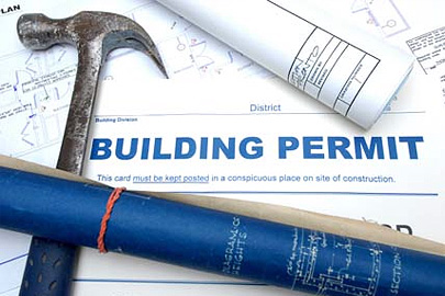 Building permits are issued by the building inspectors.
