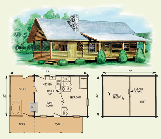 The best cabin floorplan design ideas for Log cabin floor plans with 2 bedrooms and loft
