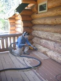cabin repair - cob blasting