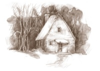 Log Home Community - cabin drawing