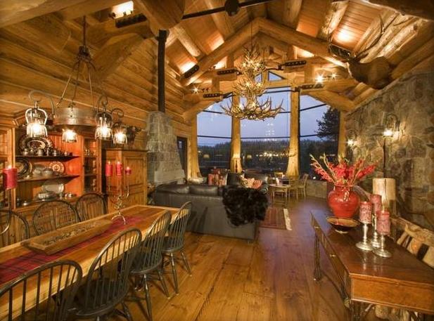 Cabin floorplan design combines function and beauty.