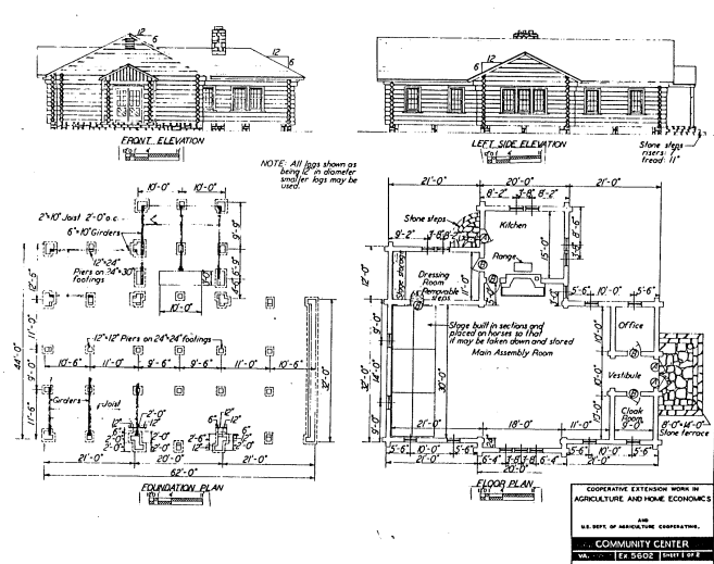 Community cabin plans.