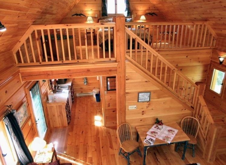 Cabin end loft.