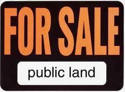 Public land for sale sign.