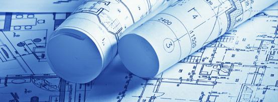 General contractor's blueprints