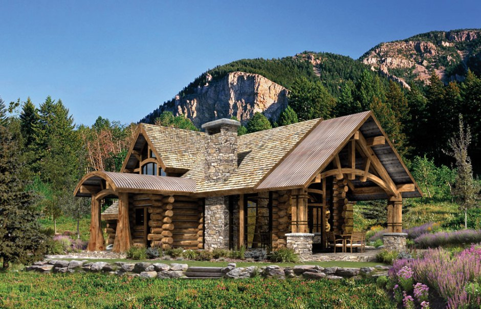 Landscaping for log homes involves taking into account the setting, geography and drainage.