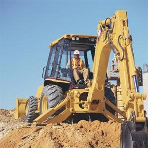 installing utilities with backhoe