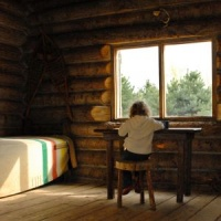 Log Cabin Decorating - window and sunlight