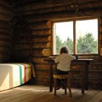 Log Cabin Decorating - window and sunlight