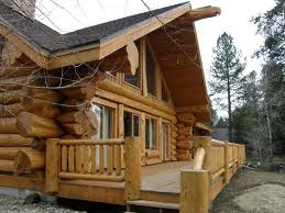 Investment log cabin with porch.