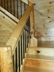 Iron Railings for Log Cabins - powder coated aluminum