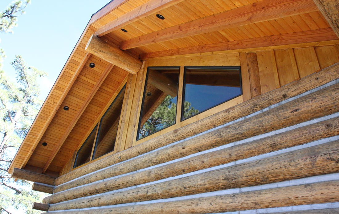 Log Cabin Suppliers - front cabin facade.
