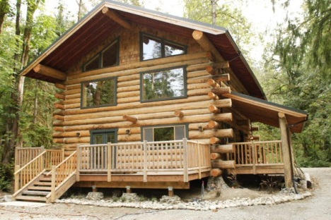 Log home building school for Small cabin construction