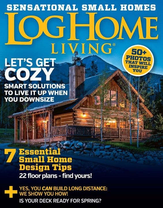 Virtual library for Log homes magazine