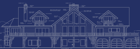 Log home blueprint.