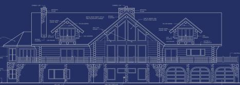 Log home blueprint.