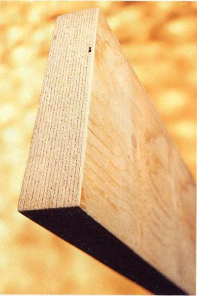 Structural ridge beams are made using LVL, or laminated veneer lumber.