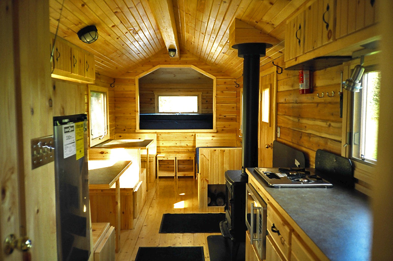 Log cabin mobile homes - Natural Log Homes in New Brunswick, Canada, interior view.