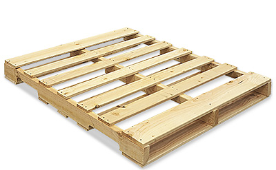 Pallet used in building pallet cabins.