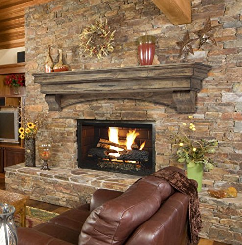 Rock Fireplace Mantels