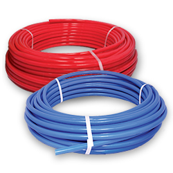 Pex tubing is ideal for radiant floor heating in log homes for Best pipe for water lines