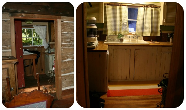 Renovating the cabin kitchen.
