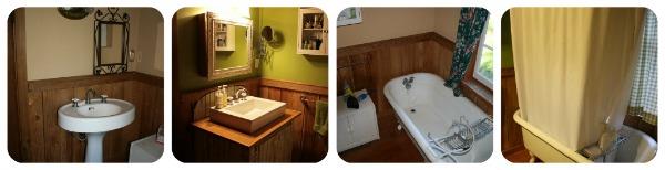 Renovating the cabin bathroom.
