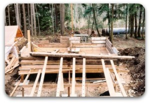 Rebuilding the cabin.