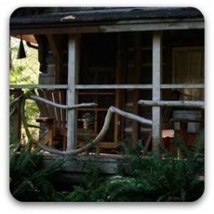The cabin porch.