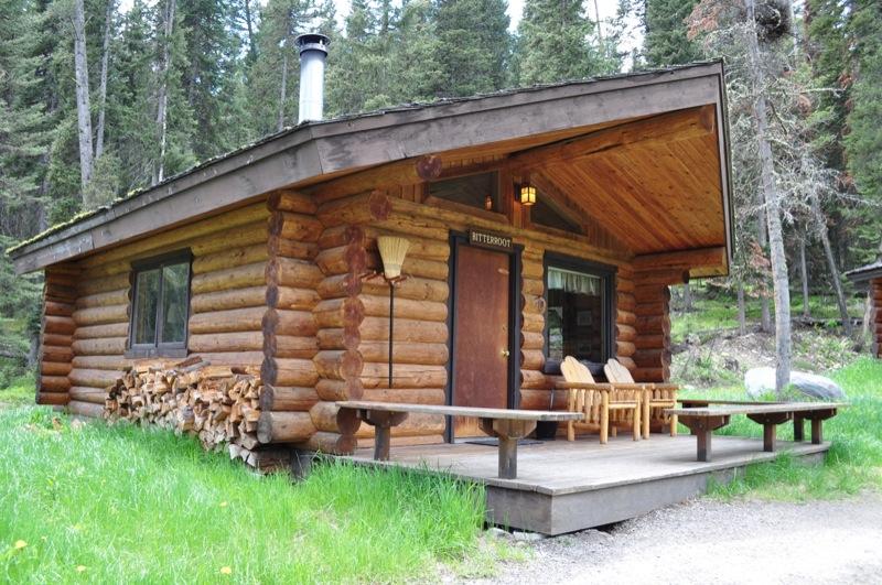 Small trapper's cabin with porch.
