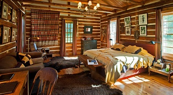 Small cabin interior.