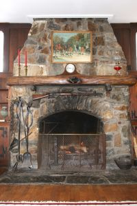 Log Cabin Rental in Gatlinburg - Fireplace