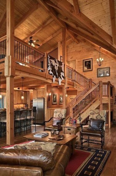 Suspended cabin loft.