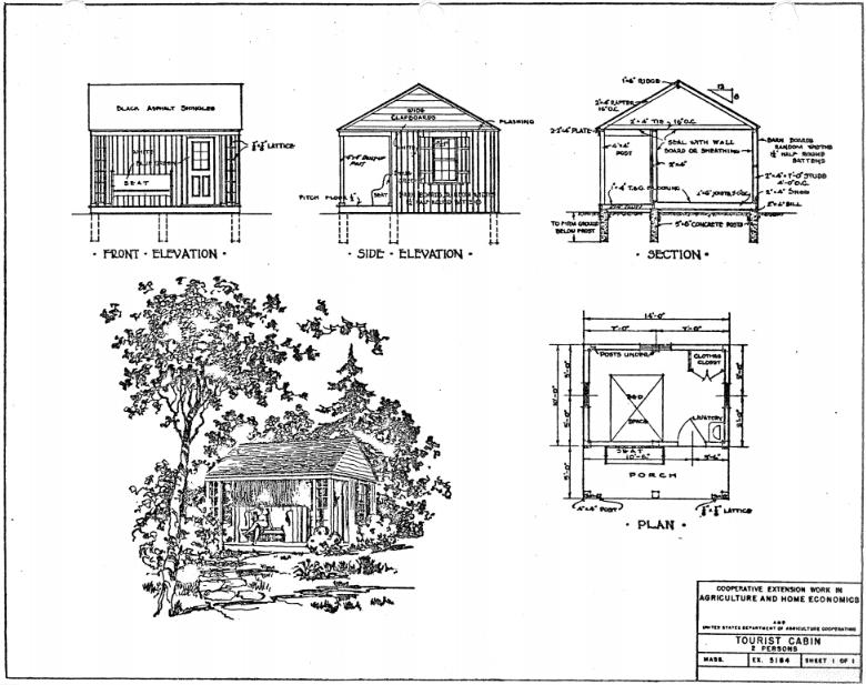Tourist cabin floor plans.