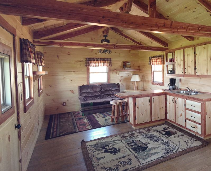 Log cabin mobile homes for 5 structural types of log homes