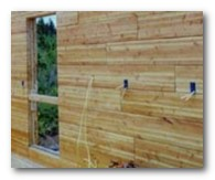 Wiring Log Cabins: How to wire a log wall